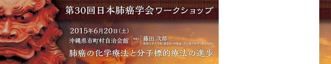 第30回日本肺癌学会ワークショップ